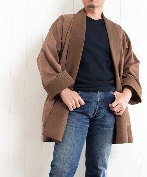 草木染め手織り綿のジャケット