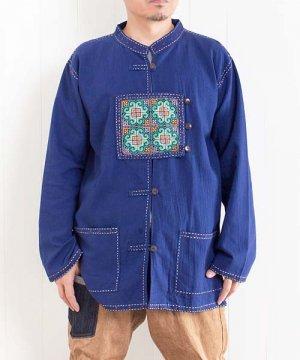 モン族刺繍の入ったアジアントップ