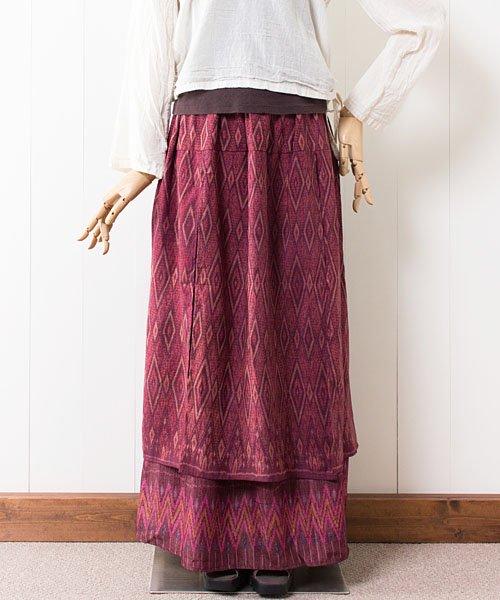 マッドミーオールドシルクの2枚重ねスカート(1)