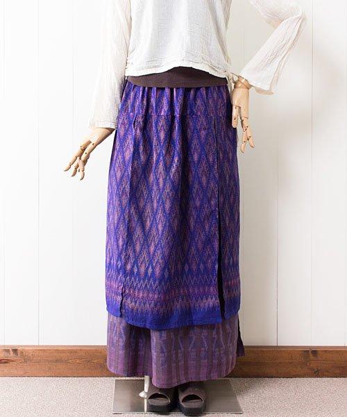 マッドミーオールドシルクの2枚重ねスカート(3)