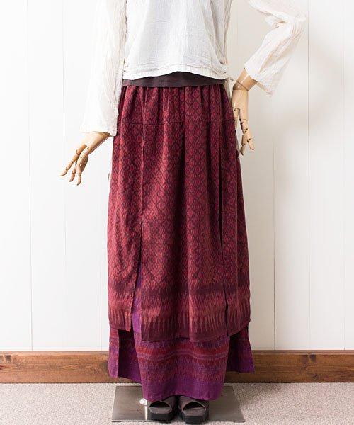 マッドミーオールドシルクの2枚重ねスカート(5)