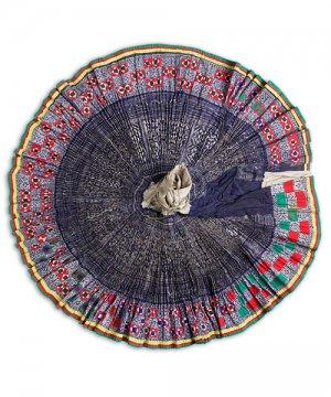 モン族民族衣装巻きスカート(1)