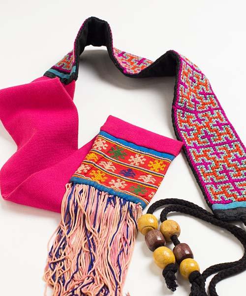 モン族刺繍古布ベルト