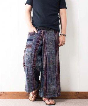 モン族刺繍&藍染バティック・タイパンツ(6)
