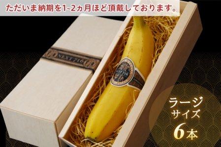 [ 6本:ラージサイズ ] 希少!国産バナナ NEXT716