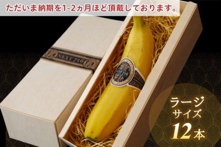 [ 12本:ラージサイズ ] 希少!国産バナナ NEXT716