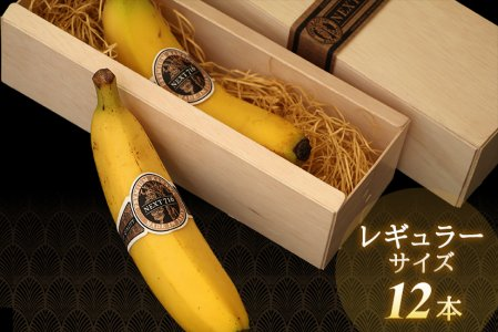 [ 12本:レギュラーサイズ ] 希少!国産バナナ NEXT716