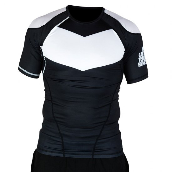Short Sleeve Supreme Ranked Rash Guard II〈White on Black〉