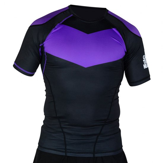 Short Sleeve Supreme Ranked Rash Guard II〈Purple〉