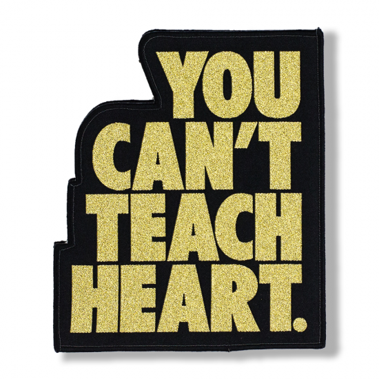 <img class='new_mark_img1' src='//img.shop-pro.jp/img/new/icons5.gif' style='border:none;display:inline;margin:0px;padding:0px;width:auto;' />Black You Can't Teach Heart. Patch 〈Gold YCTH〉
