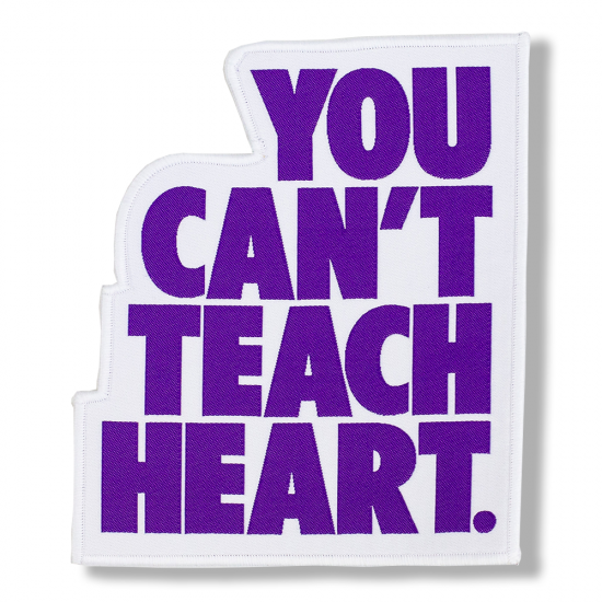 <img class='new_mark_img1' src='//img.shop-pro.jp/img/new/icons5.gif' style='border:none;display:inline;margin:0px;padding:0px;width:auto;' />White You Can't Teach Heart. Patch 〈Purple YCTH〉