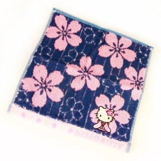 桜KTプチジャガードタオル 桜紺縞