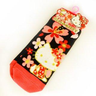 桜KT 靴下・花柄BK