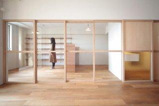 木製ガラス引戸