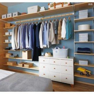 無垢の木の収納 寝室クローゼットプランKN-005