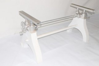 Hure Crank Table Base(White)