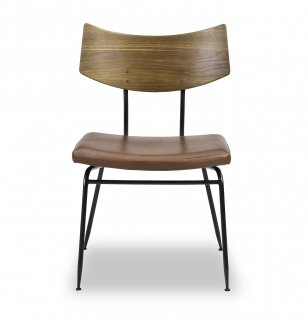 SOLI CHAIR /SMOKED OAK BR LEATHER
