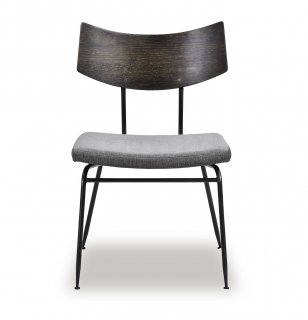 SOLI CHAIR /SEARED OAK GRAY FABRIC