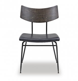 SOLI CHAIR /SEARED OAK BK LEATHER