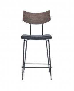 SOLI COUNTER STOOL BLACK LEATHER