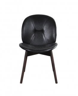 PACHA CHAIR BLACK LEATHER