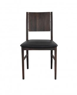 ESKA CHAIR BLACK LEATHER