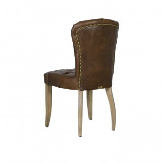 CHESTER CHAIR WEATHERED OAK LEG ANTIQUE WHISKY