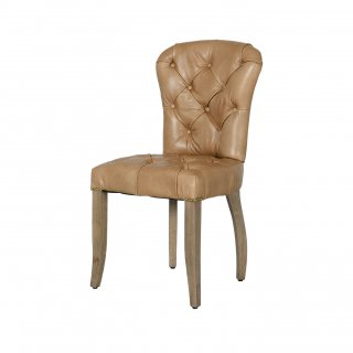 CHESTER CHAIR WEATHERED OAK LEG TINOSSI CAMEL