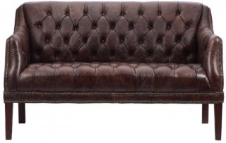 EASTBOURNE 2P SOFA BIKER TAN