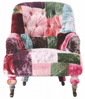 ANNE CHAIR VELVET PATCHWORK BOHEM