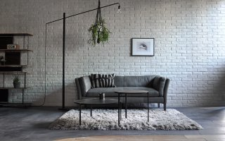 WHITE HEAD 2P SOFA PEWTER