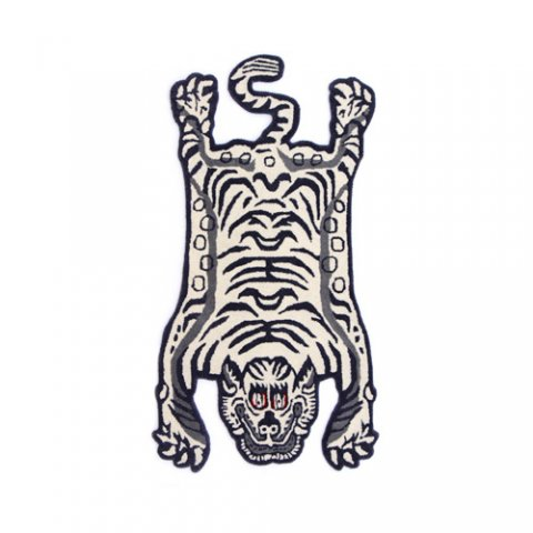 "Tibetan Tiger Rug ""White / Small"""
