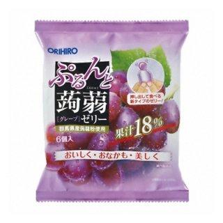 オリヒロ ぷるんと蒟蒻ゼリー グレープ 20g×6個 24コ入り (4571157254340)