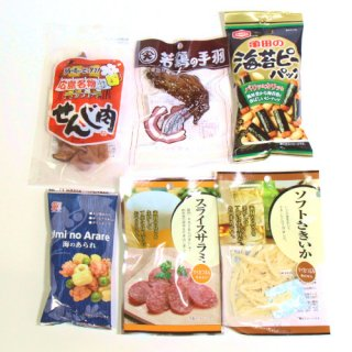(全国送料無料) 広島名物 せんじ肉入りおつまみセットB おかしのマーチ メール便 (omtmb6226)