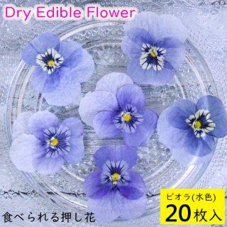 (全国送料無料)食べられる押し花 ドライエディブルフラワー  ビオラ(水色) 20枚入り 食用花 ドライフラワー  メール便(omtmb6255)