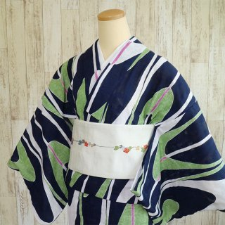 【ひでや工房】 浴衣/夏着物 からみ織り 壺たれ
