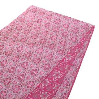 【備後 兵児帯】 ステンドグラス柄 ピンク ジャガード織り