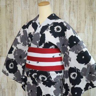 【ひでや工房】 浴衣/夏着物 -モノトーン・花柄