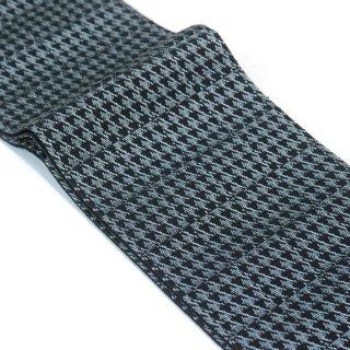 【米沢織】正絹角帯 -グレー系 千鳥格子