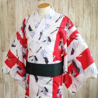 【ローブ ジャポニカ】 メンズ浴衣 「鶴」