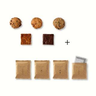 ドリップコーヒーと焼き菓子のセット