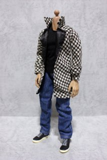 """CC138 1//6 Scale Clothing-Biker Jacket,Tee,Jeans Full Set for 12/"""" Action Figure"""