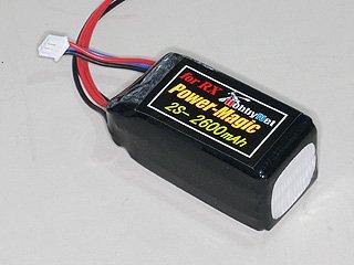 PowerMagic-LW リポ 7.4V-850mAh(受信機用)