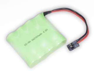 受信機用ニッケル水素バッテリー(4.8V-2000mAh)