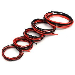 シリコンケーブル100cm 赤・黒2色セット AWG18(外径2.7mm)
