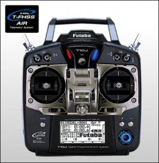 FUTABA T10JA 2.4GHz T-FHSS 飛行機用 T/Rセット R3008SB