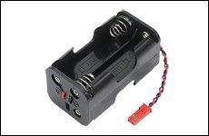 FUTABA 300219 R2-BSS-N BEC用電池ホルダー 赤色共通2P・コネクタ付