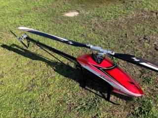 XLPower Specter700組立キット(メインー、テールローター、EPモーター付) レッド