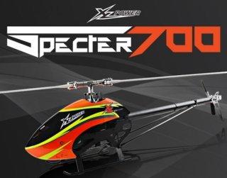 XLPower Specter700組立キット(メインー、テールローター、EPモーター付) オレンジ