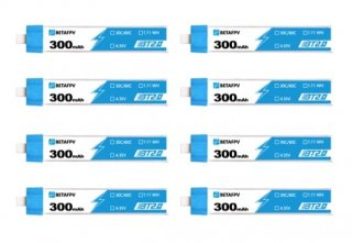 Meteor65用 BT2.0 300mAh 1S 30C HV Battery (8pcs)